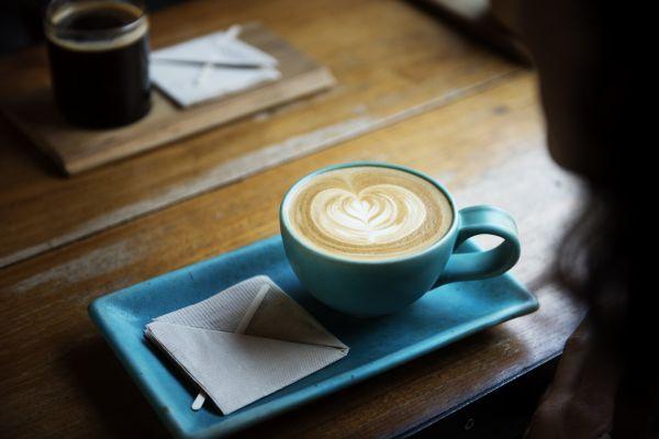 Coffee Cappucino Blue Cup photo