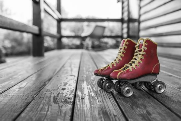 Roller Skates Red Retro photo