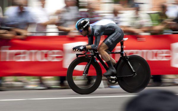Professional Cyclist Bike Fast photo