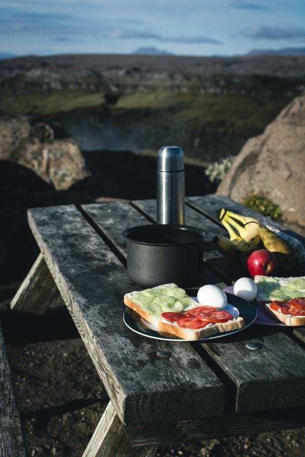 Camping Breakfast Nature Mountains photo
