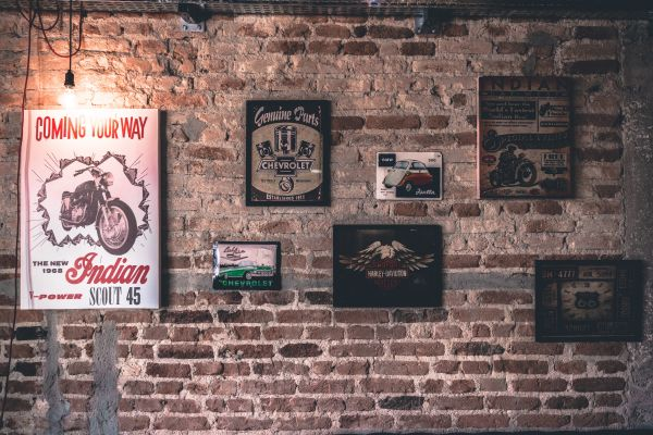 Brick Wall Art Frame Vintage photo