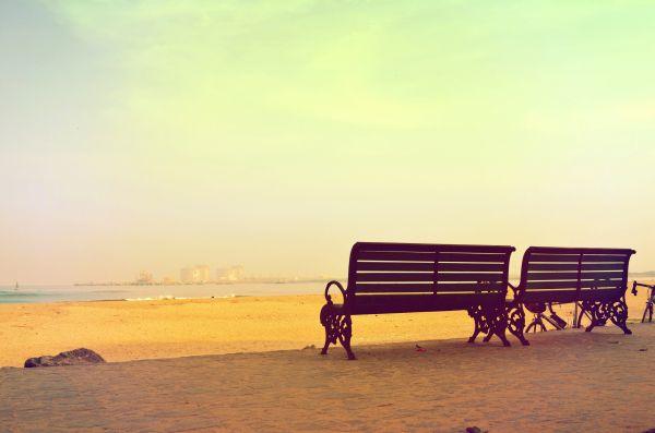 Beach Benches Summer photo