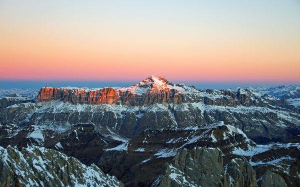 Alps Snow Sunrise Morning photo