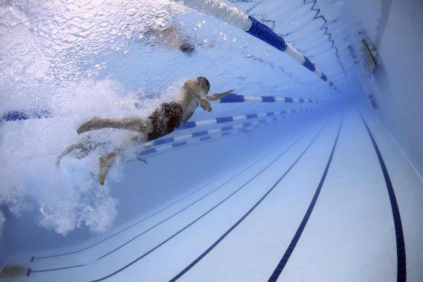 Man Swimming Pool photo