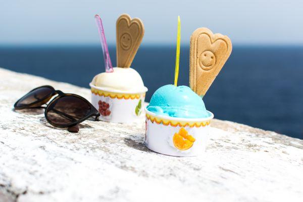 Ice Cream Cone Seaside Summer photo
