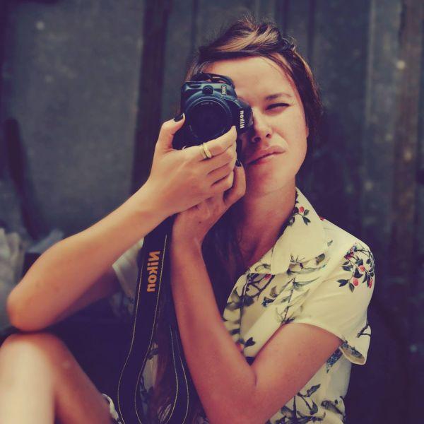 Woman Nikon Camera Vintage photo