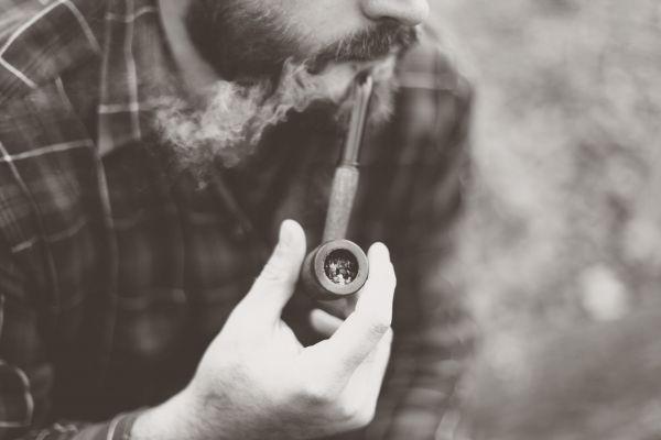 Man Smoking Pipe Beard photo