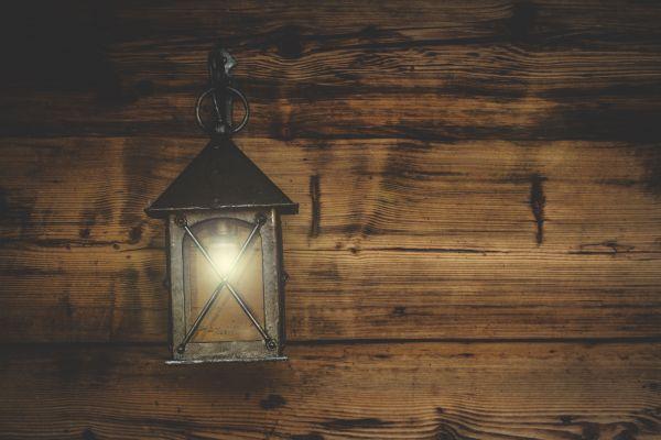 Lantern Light Rustic Wood photo