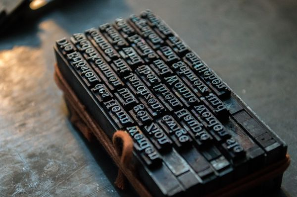Typography Print Press photo