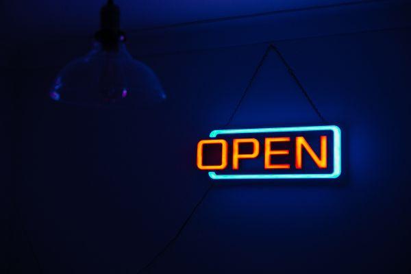 Open Neon Sign photo