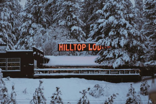 Neon Sign Snow Cabin photo