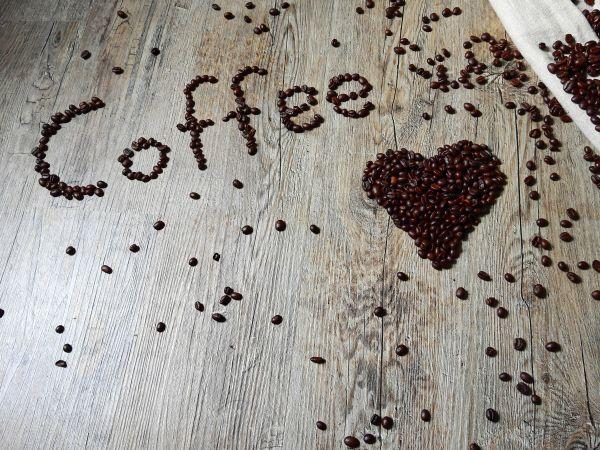 Love Coffee Beans Wood photo