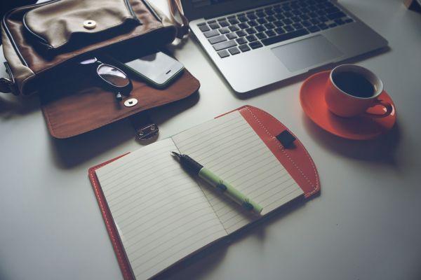 Laptop iPhone Coffee Notebook photo