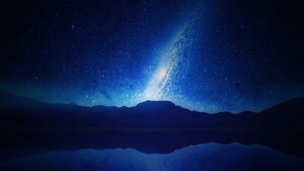 Stars Trail Sky Night Universe photo