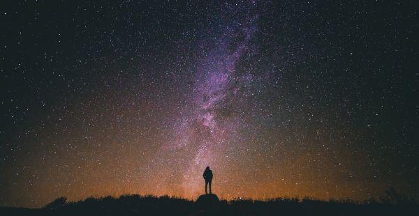 Silhouette Night Stars Universe photo