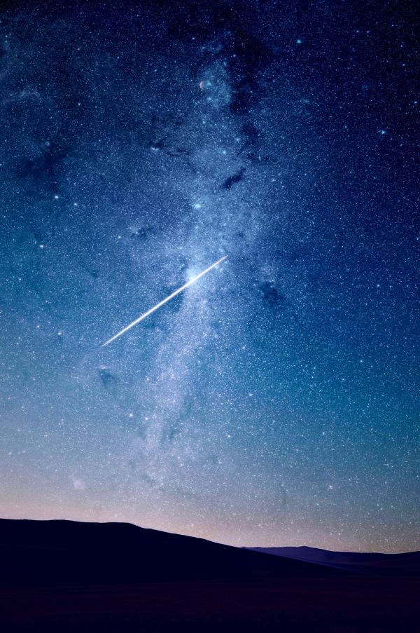 Shooting Star Universe Night photo