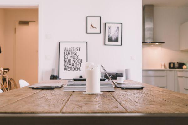 Minimal Desk Office White photo