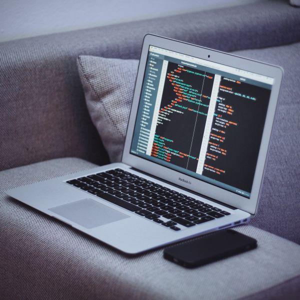 MacBook Air Coding HTML JavaScript photo