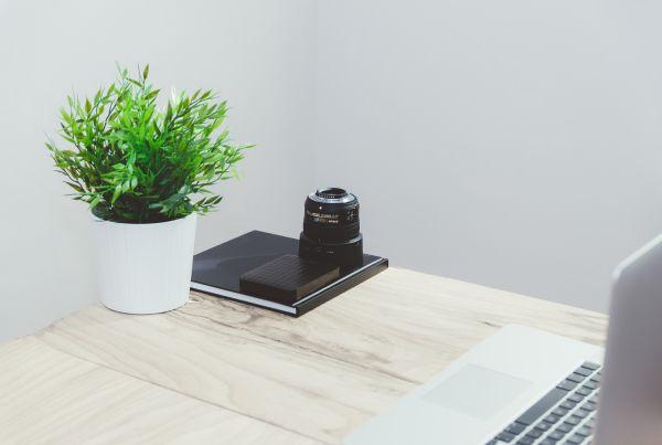 Minimal Desk MacBook Camera Lens photo