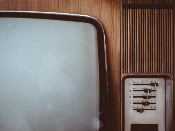 Closeup Vintage Television photo