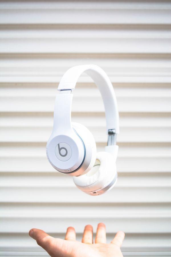 White Beats Headphones Hand photo