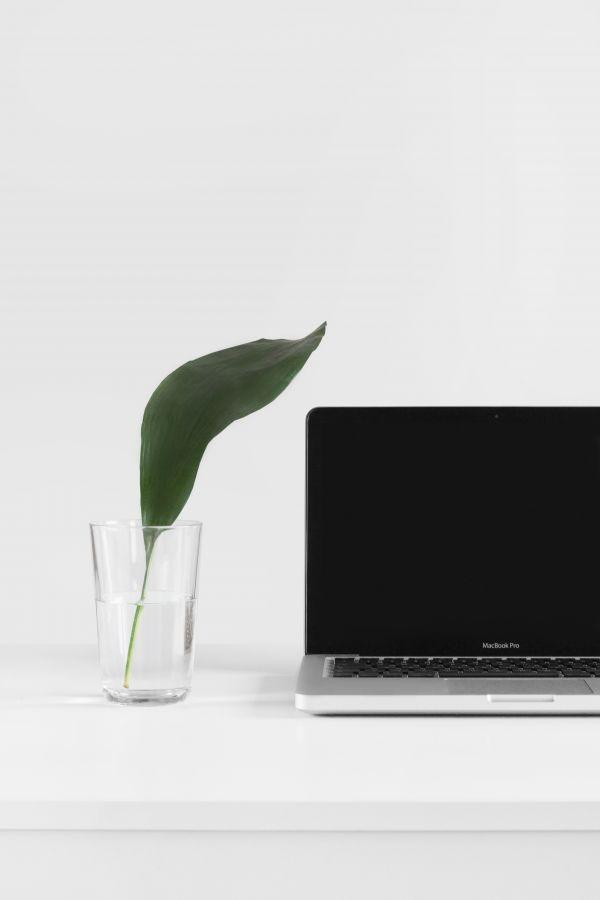 Minimal MacBook Glass Water photo