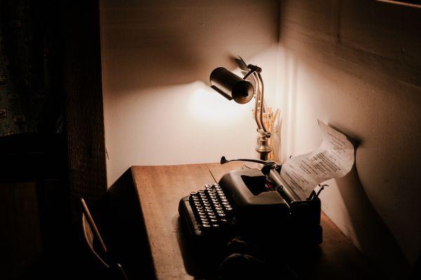 Vintage Typewriter Lamp Desk photo