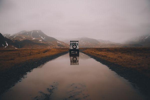 White Land Rover Car Jeep photo