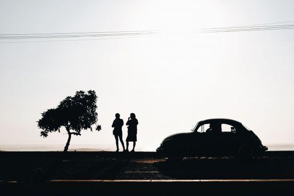 Volkswagen Beetle Car Silhouette photo