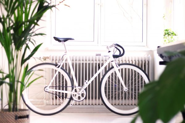 Minimal White Road Bike photo