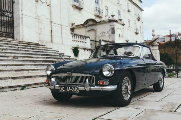 Classic Black MG Convertible Car photo