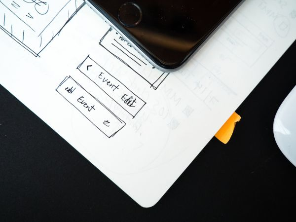 Wireframe Web Design iPhone Mouse photo