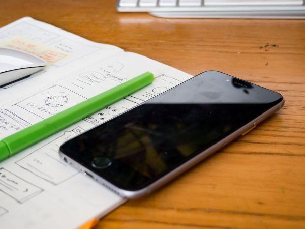 Wireframe Sketch Desk Wood iPhone photo