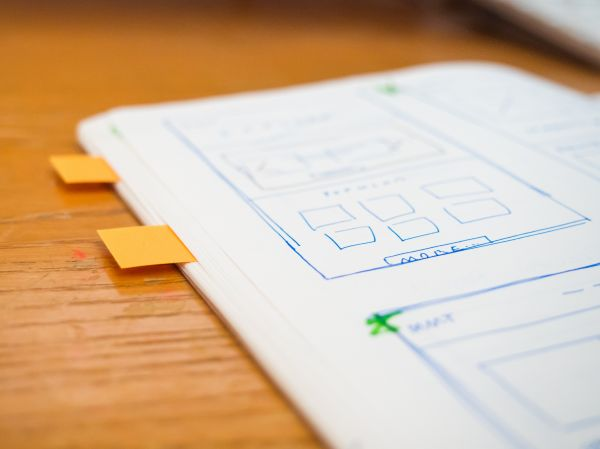 Sketch Wireframe Web Design Notes photo