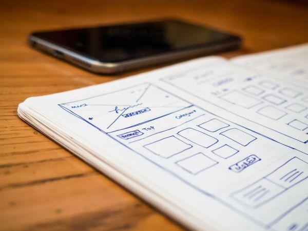 Wireframe Web Design Notebook photo