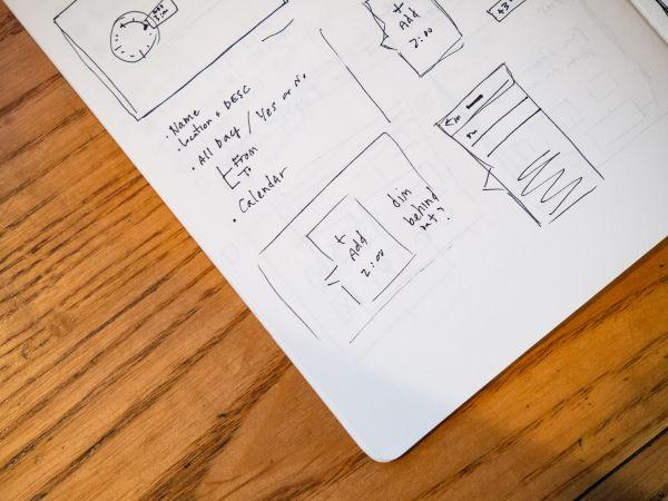Notebook Wireframe Sketch photo