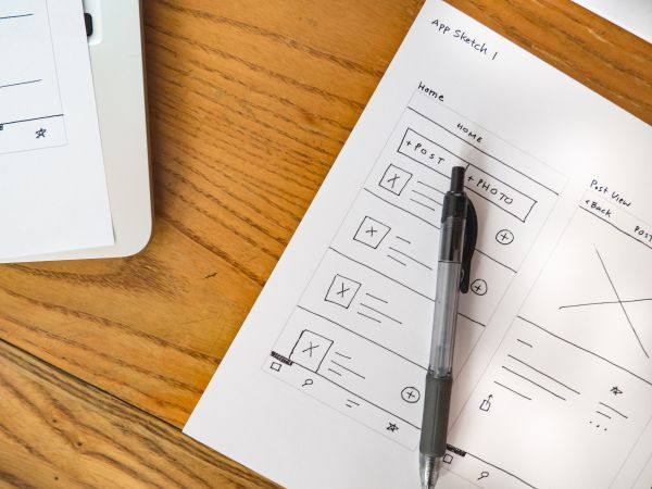 Mobile App Wireframe Notebook photo