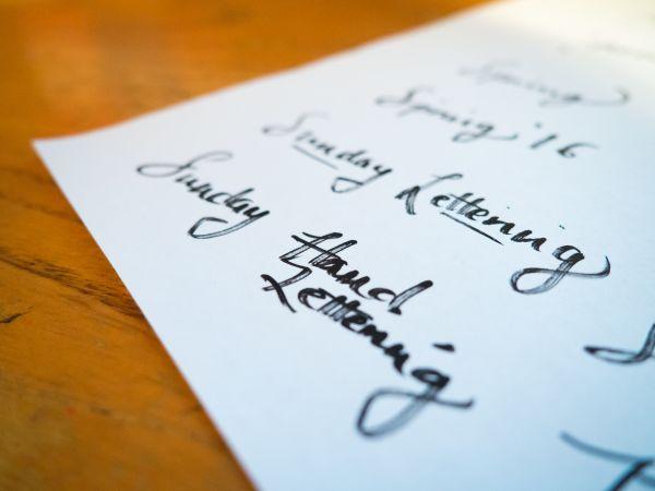 Hand Lettering Logo Design Paper photo