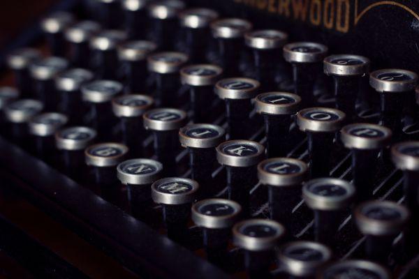 Closeup Vintage Typewriter Keys photo