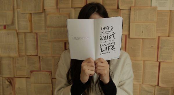 Woman Reading Philosophy Book photo