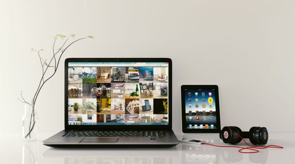 iPad Laptop Beats Headphones photo