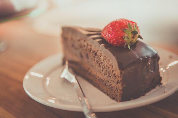 Chocolate Cake Strawberry Fruit photo