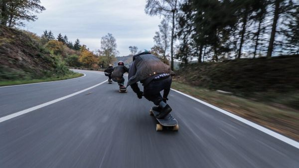 Skateboard Downhill Road photo