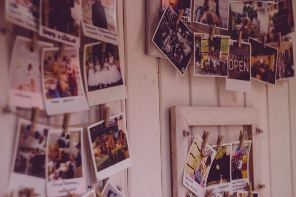 Vintage Polaroid Photo Wall photo