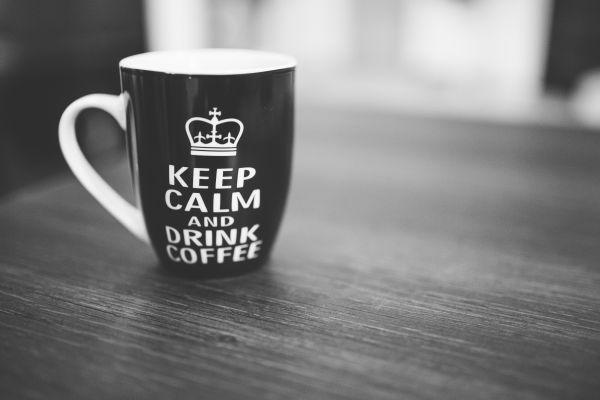 Keep Calm Black Coffee Mug photo