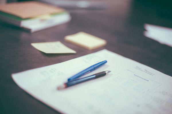Desk Business Notes photo