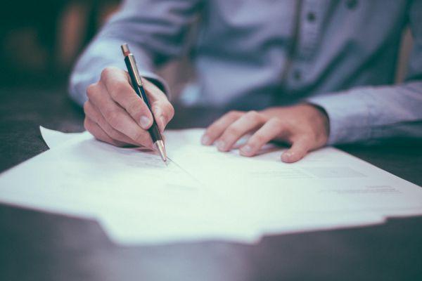 Man Writing Business photo