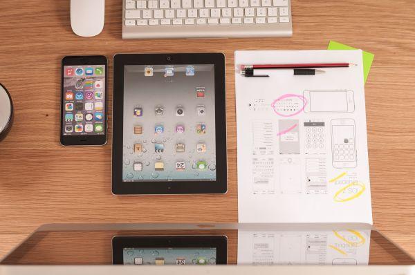 Mac, iPad, iPhone & Wireframe photo