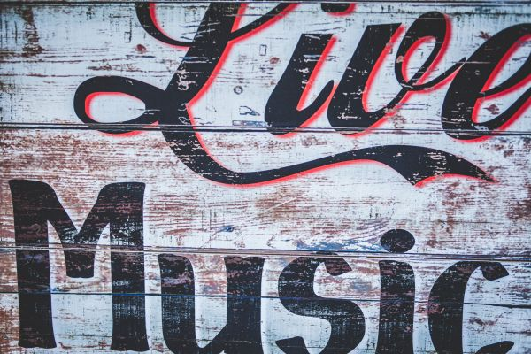 Live Music Rustic Sign photo
