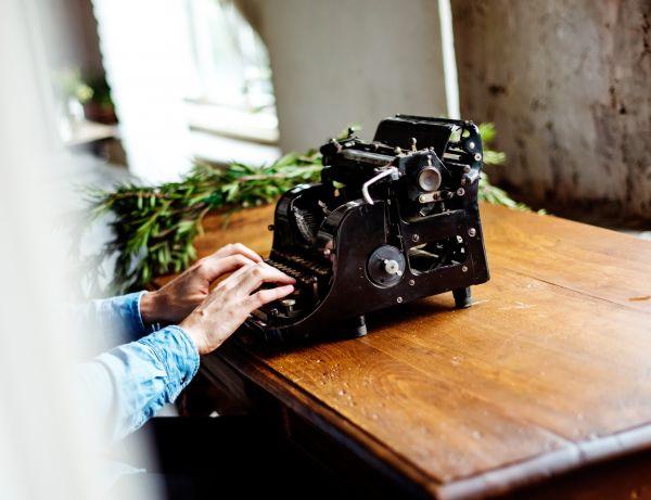 Typing Vintage Typewriter photo